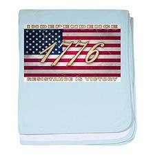 American Flag (1776) baby blanket