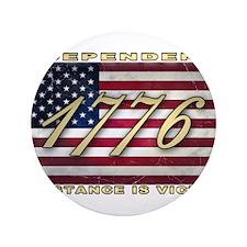 "American Flag (1776) 3.5"" Button"