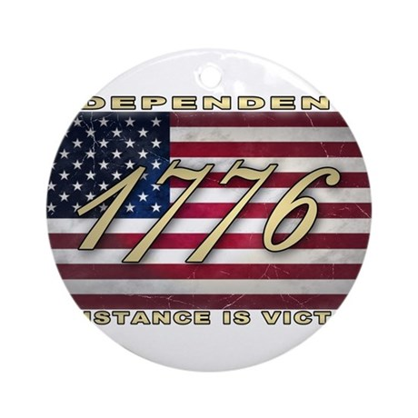 American Flag (1776) Ornament (Round)