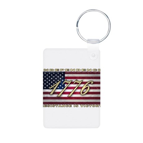 American Flag (1776) Aluminum Photo Keychain