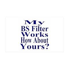 My BS Filter Works 38.5 x 24.5 Wall Peel