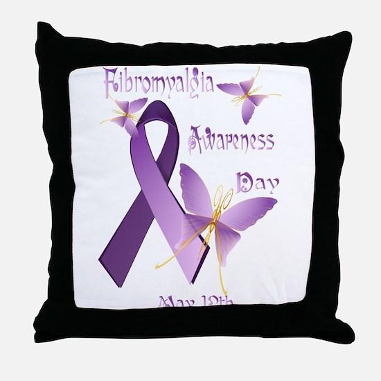 Fibromyalgia Awareness Day Throw Pillow