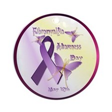 Fibromyalgia Awareness Day Ornament (Round)