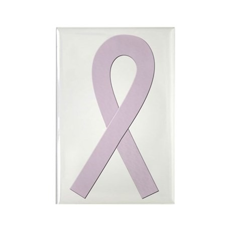 Orchid Ribbon Rectangle Magnet (100 pack)