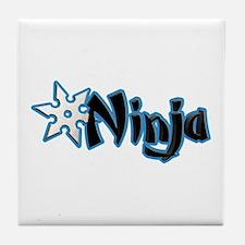 Blue Ninja Logo Tile Coaster