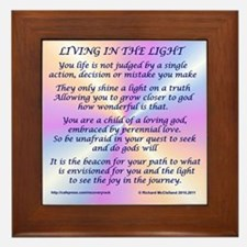 Living In The Light Framed Tile