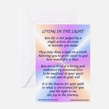 Living In The Light Greeting Card