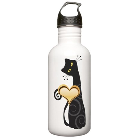 Whimsical Cat Stainless Water Bottle 1.0L