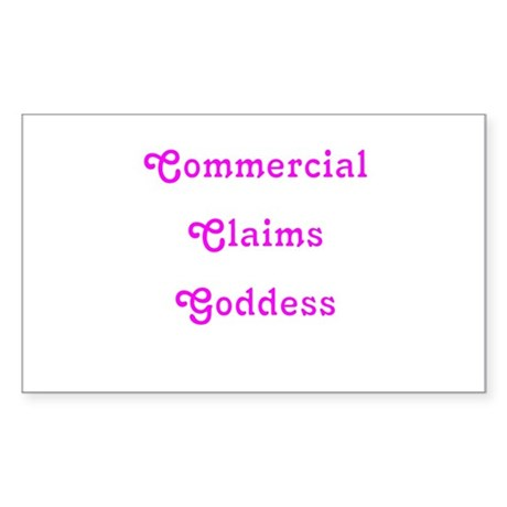 Commercial Claims Goddess Rectangle Sticker
