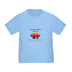 1 in Million (Sister w Autism) Toddler T