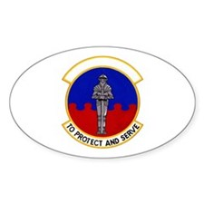 10th Security Police Oval Decal