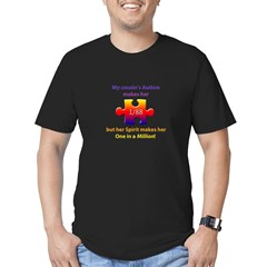 1 in Million (f Cousin w Autism) Mens Fitted Dk T