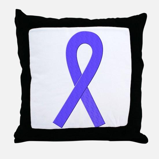 Periwinkle Ribbon Throw Pillow