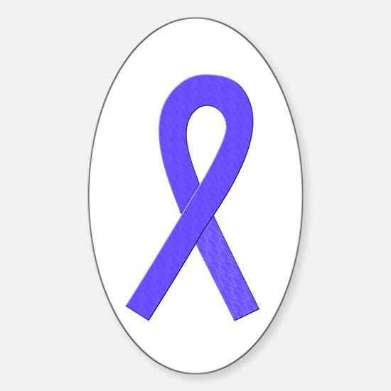 Periwinkle Ribbon Oval Decal