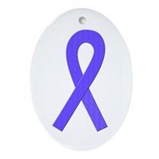 Periwinkle Ribbon Oval Ornament