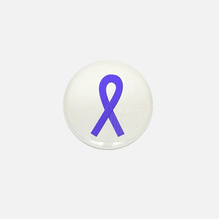 Periwinkle Ribbon Mini Button