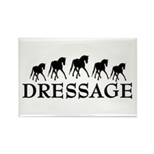 Dressage - Dancing Horses Rectangle Magnet
