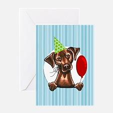 Chocolate Lab Birthday Greeting Card