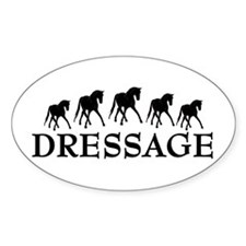 Dressage - Dancing Horses Oval Decal