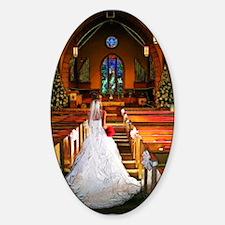 White Wedding Decal