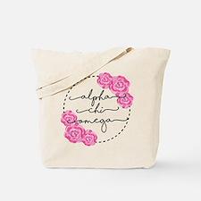 AlphaChiOmega Floral Circle Tote Bag