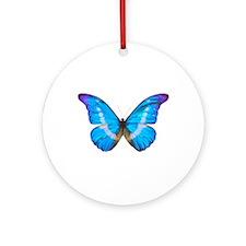 Morpho cypris Ornament (Round)