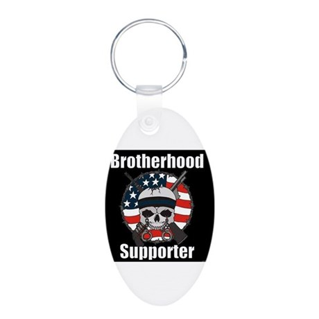 Brotherhood Aluminum Oval Keychain Keychains