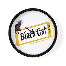 Black Cat Bar Wall Clock