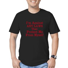 Against ANY Laws Men's Fitted T-Shirt (dark)