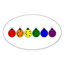 Pride Bugs Oval Decal