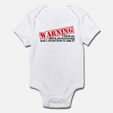 Warning Infant Bodysuit