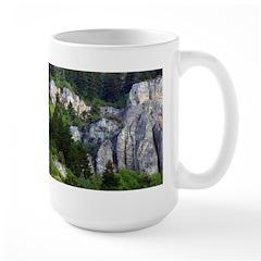 Scenic rock outcroppings Large Mug