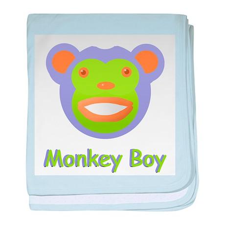 Monkey Boy baby blanket