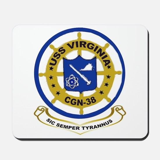 USS Virginia CGN 38 Mousepad