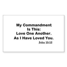 Jesus: Love One Another Decal