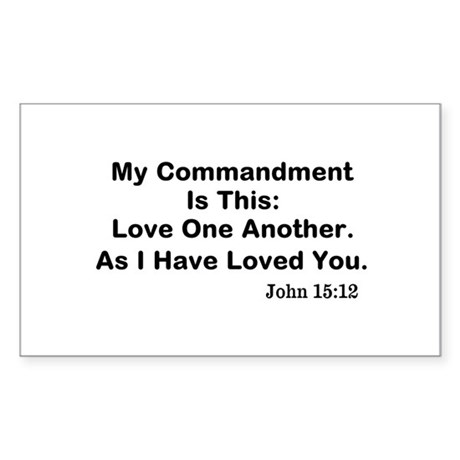 Jesus: Love One Another Sticker (Rectangle)