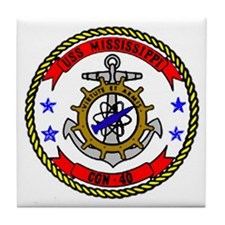 USS Mississippi CGN 40 Tile Coaster