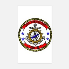 USS Mississippi CGN 40 Rectangle Decal