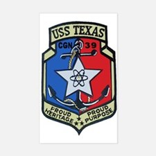 USS Texas CGN 39 Rectangle Decal