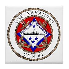 USS Arkansas CGN 41 Tile Coaster