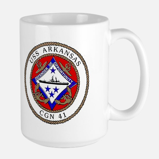 USS Arkansas CGN 41 Large Mug