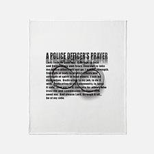 A POLICE OFFICER'S PRAYER Throw Blanket