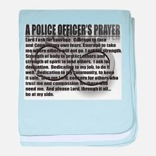 A POLICE OFFICER'S PRAYER baby blanket