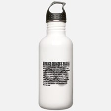 A POLICE OFFICER'S PRAYER Water Bottle