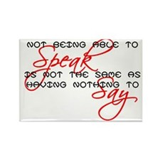 Something to Say Rectangle Magnet (10 pack)