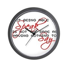Something to Say Wall Clock
