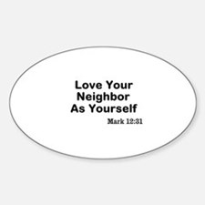 Jesus & Caring For Others Decal