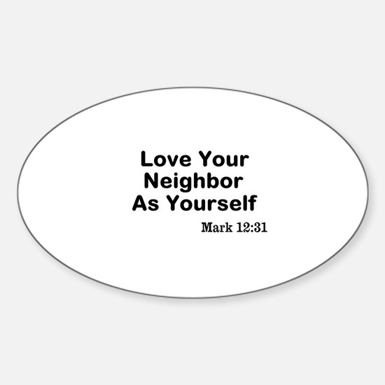 Jesus & Caring For Others Sticker (Oval)