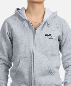 Jesus & Caring For Others Zip Hoodie
