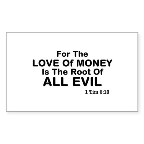 Love of Money Sticker (Rectangle)